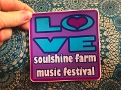"2017 Soulshine Farm Music Festival LOVE Sticker 4""x4"""